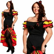 Plus Size Rumba Woman Costume - Salsa Mexican Fancy Dress Costume Spanish XL