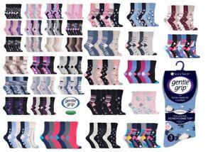 6 pairs Ladies SockShop Cotton Gentle Grip 4-8 uk Socks - NEW variations