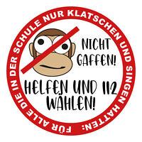 Helfen statt Gaffen Aufkleber Folie Sticker Fun Auto Leben Retten Stau R097
