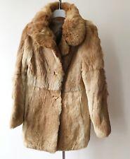 Veste manteau en lapin fourrure veritable hiver