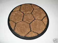Thick Hard Wearing Round Coir on Rubber Football Doormat 51cm Wide Mat Rug