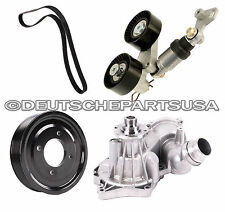 WATER PUMP + ACC BELT TENSIONER + PULLEY for BMW 540i 740i 740il X5 SET of 5