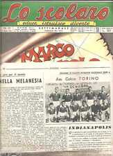 LO SCOLARO FORMAZIONE SQUADRA TORINO CALCIO SARDEGNA PALLONE CUOIO 11 1953