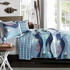Tropical Fish, Beach House, Nautical, Cottage, Twin Quilt & Sham 2 Piece Bedding