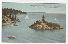 Point Grey from North Shore Marine Drive Vancouver BC Canada 1910c postcard