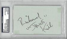Richard Kiel Signed Authentic Autographed 3x5 Cut Slabbed PSA/DNA #83799404