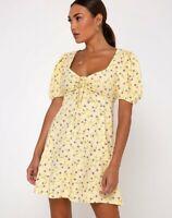 MOTEL ROCKS Carie Dress in Wild Flower Lemon Drop  (MR9)