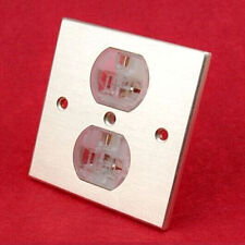 1 x  US AC power Receptacles wall outlet audio grade red copper made socket