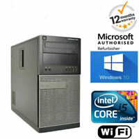 SUPER FAST WINDOWS 10 DELL OPTIPLEX COMPUTER PC CORE i5 8GB 500GB WIFI + OFFICE