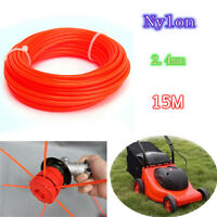 15M*2.4mm Nylon Trimmer Line Spool Whipper Wire String Garden Cutting Grass NEW