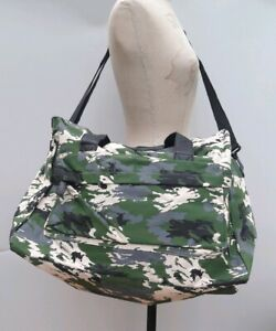 New Camouflage large Travel Weekend Handbag Bag Tote Grab Shoulder Case green