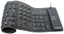 LogiLink ID0019 Tastatur Flexibel Wasserfest USB +PS/2 schwarz Soft-Touch Tasten
