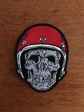 Patch / Ecusson Casque tëte de mort skull crossbones Biker thermocollant