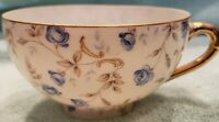 Vintage Eggshell Porcelain w/Blue Flowers (marked c-100) Tea Cup NO SAUCER, RARE