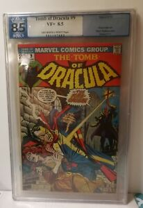 The Tomb Of Dracula #9 1973 Marvel VF+ 8.5 graded by PGX