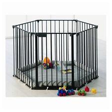 parc et barrière de sécurité Park-A-Kid 6 lati Nero [67116-10600-130] Baby Dan