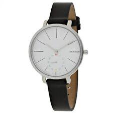 Skagen Authentic Watch SKW2435 Hagen White Dial Black Leather 34mm Women's