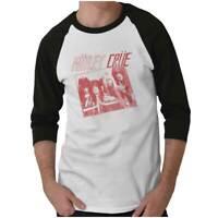 The Dirt Soundtrack Motley Crue Rock Band Adult 3/4 Sleeved Raglan Tshirt Tee