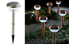 10 x STAINLESS STEEL SOLAR POWER LED GARDEN POST LIGHT OUTDOOR RECHARGEABLE LAMP