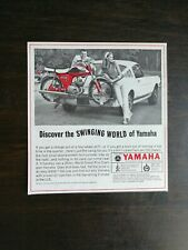 Vintage 1966 Yamaha Twin Jet 100 Motorcycle Original Ad