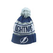 Tampa Bay Lightning Nhl Reebok Youth Boys (8-20) Cuffed Pom Knit Winter Beanie