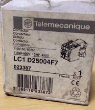 Telemecanique CONTATTORE 110V bobina parte no. LC1D25004F7