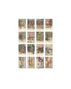 carta di riso per decoupage cm 30x42 cartoline paesaggi natale