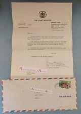 ♦ J-A-G Smith McCartney Premier Ministre Turks & Caicos ISLANDS letter 1979