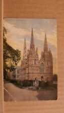 Postcard posted Staffordshire, Lichfield Cathedral