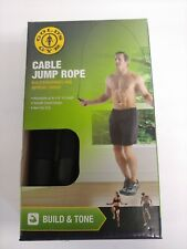 Golds Gym Cable Jump Rope - Adjustable to 116 in Length - Build & Tone - New…