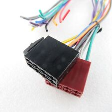 Auto Radio Adapter Kabel Set Stecker DIN ISO 16 Pin Strom Lautsprecher Autoradio