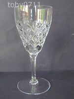 "VAL ST LAMBERT CRYSTAL SIMONE PATTERN 6½"" WINE GLASSES"