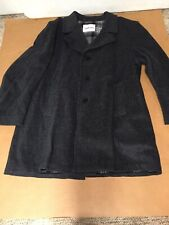 Blazer 46R Mens Black Gray Wool Sport Coat Jacket USA Vtg Adams Row EUC AR63