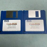 Computer Software 1988 RIX Colorix VGA Paint Program Diskette Present 3.5 Floppy