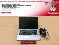 HP EliteBook 840 G3, Intel Core i7-6600U, 8GB RAM, 512GB SSD, Windows 10 Pro
