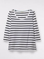 849d046e22047d New listingWhite Stuff Sally Scoop Neck Jersey Tee (Size 8) White Stripe  BNWT RRP £25.00
