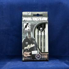 Target Phil Taylor Power 8Zero Black Titanium Soft Tip Darts 80% Tungsten 20g