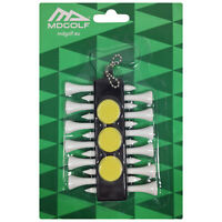 MD Golf Tee Holder 12 Tees + 3 Ball Marker + Bag Clip Keychain Carry Accessory