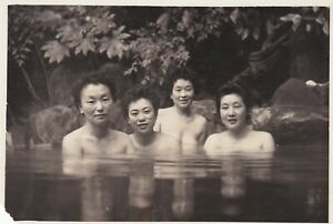 UNUSUAL OLD PHOTO ASIA JAPAN JAPANESE WOMEN SWIMWEAR SWIMMING GLAMOUR HUMOUR W7