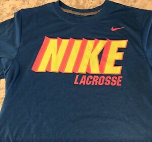 Women's Nike Dri-Fit Lacrosse Shirt Size XS  Blue  LACROSSE Spellout