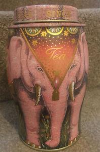 Williamson Collectable Elephant Tea Caddy Tin Pink