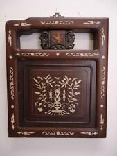 """Chinese Antique Rosewood Bed Panel Inlaid With Bone 12.1/2""""W x 15.1/2""""H 19c"""