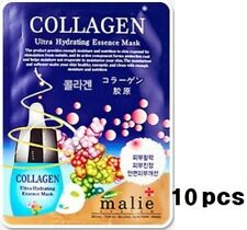 [Malie] 10pcs Collagen Face Mask Sheet Pack