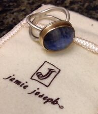 Amazing Jamie Joseph Oval Rainbow Moonstone 14K And Sterling Silver Ring