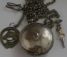 BIG Ottoman - TURKISH SWISS RARE SILVER POCKET WATCH 0800