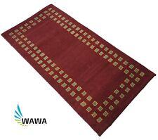 Gabbeh Teppich 70x140 cm Handgeknüpft ~ 100% Wolle ~ Rot~ Reine Schurwo