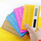 8 Digital Credit Card Solar Power Pocket Calculator Novelty Small Travel  New