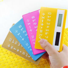 Hot 1x 8 Digits Credit Card Solar Power Pocket Calculator Novelty Small Travel
