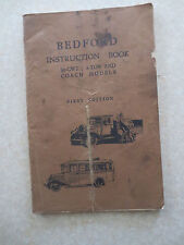 Original 1930s Bedford 30 cwt & 2 ton & coach owner's manual truck / lorry / bus