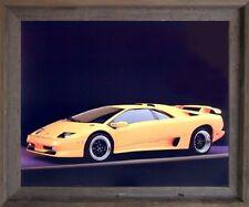 Lamborghini SV Diablo Racing Sports Car Barnwood Framed Picture Art Print 19x23